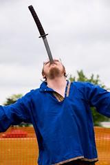 Kazimir the Hungry! (Pahz) Tags: kazimirthehungry swordswallower fireeater sideshow janesvillerenaissancefaire janesvillewi traxlerpark renaissancefaire renfaire renaissancefairephotographer pattysmithjrf jvl wisconsin