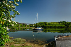 May (suerowlands2013) Tags: may hawthorn forderlake antonypassage saltash secornwall millpond boats reflections spring hightide bluesky viaduct isambardkingdombrunel