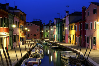 ABM (Another Blue Monday) / Colorful Burano in the evening, Italy