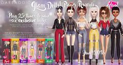 Glam Dolls Reward (Ashleey Andrew) Tags: garbaggio sl secondlife second life virtual world original mesh dolls toys gacha doll figurine figurines collectible glamour chic fashion the arcade