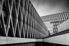 Of line and form monochrome (frank_w_aus_l) Tags: antwerpen architecture fineart rain sky abstraction lines form concrete reflection university hogeschool ap nikon pce pattern nikkor d810 monochrome sw bw blackandwhite noiretblanc netb vlaanderen belgien be