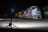 Night Shoot (sullivan1985) Tags: train railroad railway locomotive locomotives unionpacific up emd sd70ah spiritofunionpacific up1943 up9082 ocs dinnerspecial passenger passengertrain officecarspecial ns066 066 croxton night strobes alienbees flash