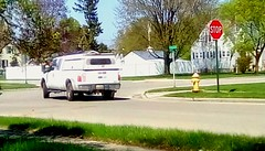 Pickup truck - HTT (Maenette1) Tags: pickuptruck white cap neighborhood menominee uppermichigan happytruckthursday flicker365 allthingsmichigan absolutemichigan project365 projectmichigan