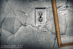 Art Unplugged (sminky_pinky100 (In and Out)) Tags: abandonedhouse socket pictureframe crackedpaint abandoned old decaying decay interior inside home wall crimbling forgotten ruraldecay artsy novascotia canada omot cans2s stilllife atmospheric atlanticcanada