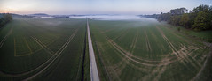 Foggy morning panorama (Traumfotos Trautmann) Tags: cgo3 drohne drone felder luftaufnahme luftbild morgendämmerung multicopter nebel q5004k quadcopter quadrocopter ruhrtal strullbach uav wickede yuneectyphoonq5004k aerial aerialphoto morgens nebelstimmung nebelig morgenlicht morgennebel dämmerung panorama panoramablick sauerland ruhr feld strase uas uavphotography aerialphotography aerialview nebelfeld nebelschwaden fog foggy