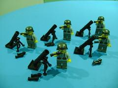 Custom Lego WW2 German mortar launcher (TekBrick) Tags: custom lego ww2 german mortar launcher moc brick war minifigure dark grey rocket