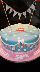 Cath Kidston Cake (Victorious_Sponge) Tags: cath kidston inspired cake birthday 21st 30th 40th 50th blue floral bunting