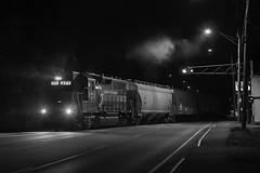 Night moves (Thomas Coulombe) Tags: panamrailways panam guilfordrailsystem guilford emdgp40 gp40 wa2 freighttrain train winslow maine