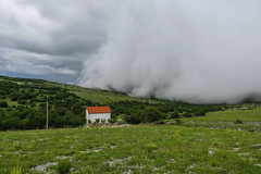 Storm is coming (HimzoIsić) Tags: storm landscape outdoor weather cloud sky house village grassland forest nature