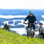 Ebike driving in the top of Tahko thumbnail