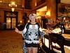 Me And My Barkeep du Jour, Robert (Laurette Victoria) Tags: bar woman laurette dress silver hotel milwaukee pfisterhotel