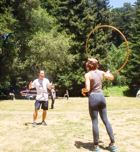 Hooping in the meadow
