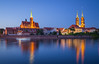 Tumski island at blue hour (Vagelis Pikoulas) Tags: poland europe wroclaw island colour colours colors color blue islands long exposure light lights lightroom architecture reflection reflections tokina 2470mm canon 6d sky travel holidays city cityscape may spring 2018
