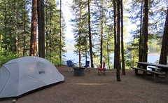 No Electricity, No Cell Service (Patricia Henschen) Tags: vallecitoreservoir vallecito lake reservoir durango colorado westernslope bayfield sanjuan nationalforest mountain mountains camping campsite lakeside forest pinepoint 9 tent
