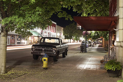Tower Avenue (Curtis Gregory Perry) Tags: centralia washington ford truck pickup night long exposure 1973 1974 1975 1976 1977 old classic vintage fire hydrant nikon d810