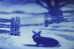 Hare in Winter (jeffr71) Tags: blue plate colourfusion trueblue royalcopenhagen hare macro