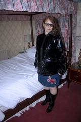 IMG_2025 (traveller-28) Tags: pvc raincoat woman wife rainboots latex asos