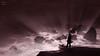 Soul Catcher (PhotonenBlende) Tags: rocks felsen surge brandung cliff steilküste coast küste fisherman fischer light licht purple lila rays strahlen dark dunkel silhouette monochrome desaturated bedrückend oppressive artwork fineart magic futuristic fantasie art kunst abstract abstrakt surreal unwirklich outdoor nikon d7200 sigmaex sea meer