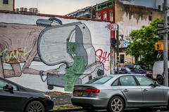 「About Wasting」 (Neptunien) Tags: brooklyn nyc ny back étatsunis eu usa united states america american neptunien trip trips williamsburg bridge brick brickwall brique briques graffiti graff street art tag