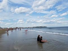 6-9-2018: Soaking in the tide. Hampton Beach, NH