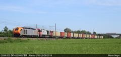 Un merci tutto nuovo (Mario 668) Tags: parma campagna verde treno treni ferrovie dinazzano po trenitalia merci ferrovia bologna milano kerakoll d284 g2000 fer dp trenord italia aln668 aln663 mercitalia fuorimuro captrain