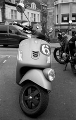 Six (Gabo Barreto) Tags: vespa moped motorcycle bike zuiko olympus trip35 iso100 xtol analoguephotography blackandwhite ishootfilm filmisnotdead filmcamera film selfdeveloped scannedfromfilm wheel kosmofotomono