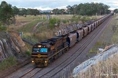 Dirty Durallie (Henry's Railway Gallery) Tags: gwu001 gwuclass c44aci gwa geneseeandwyomingaustralia ge diesel goninan ugl coaltrain freighttrain du603 duralie stratford