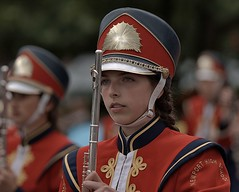 Flautist (Scott 97006) Tags: girl female lady musician flute band uniform parade pretty highschool