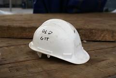 """if the cap fits........"" (Mr Ian Lamb 2) Tags: hardhat safetyhelmet funny humorous humourous graffiti writing workman builder"