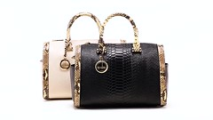 Snake Skin Genuine Leather Boston Shoulder Crossbody Bag (Simple Craze) Tags: handbags snake skin leather crossbody bag