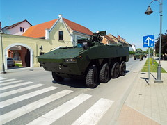 Croatian Military (sean and nina) Tags: army military armed forces eu europe european nato petrinja croatia croatian hrvatska green soldiers vehicles display exhibition recruitment main square town may spring 2018 public candid open street weapons personnel guns tanks armour armoured carriers outdoor outside apc mortars rounds ammunition khaki jeep machine gun automatic gpmg convoy driving road traffic