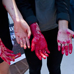 Protesting McDonald's Animal Cruelty Practices Outside Hamburger University West Randolph Street Chicago Illinois 5-24-18  1547 thumbnail