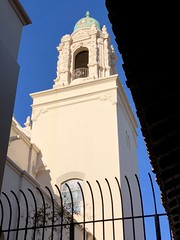 Bell tower, Mission Dolores (kimbar/Thanks for 3.5 million views!) Tags: belltower missiondolores mission fence church sanfrancisco california