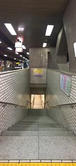 Into the Bowels of Sapporo (sjrankin) Tags: 4january2018 edited panorama stairway buscenter underground sapporo hokkaido japan