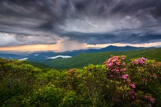 Asheville North Carolina Blue Ridge Parkway Thunderstorm Scenic Mountains Landscape Photography