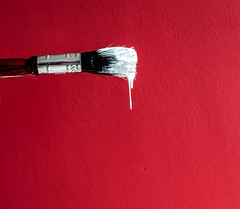 Drips (Through Bri`s Lens) Tags: decorating diy paint paintbrush red home brianspicer canon5dmk3