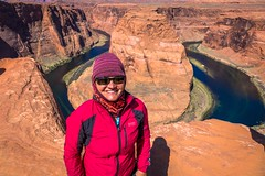 Amanda at Horseshoe bend in Northern Arizona