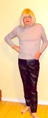Black leather pants - 2 (donnacd) Tags: sissy tgirl tgurl dressing crossdress crossdresser cd travesti transgenre xdresser crossdressing feminization tranny tv ts feminized domina touchy feely he she look 易装癖 シー