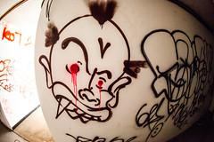 Tell Him What We Said Bout Paint it Black (Thomas Hawk) Tags: america california cossonhall sf sagehall sanfrancisco starburst ti treasureisland usa unitedstates unitedstatesofamerica abandoned barracks decay graffiti fav10