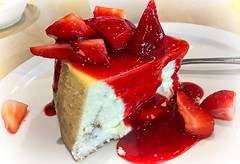 Dessert (LarryJay99 ) Tags: food cake cheesecake dessert tabletop miscellaneous eats vittles reds sweets toojays deli