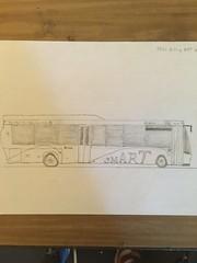 Bus Drawing (Kai.Keer) Tags: bus lowfloor brt gillig drawing