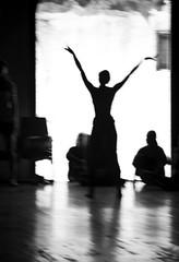 Dance Rehearsals V (annemcgr) Tags: cuba dance rehearsals theatre silhouette blur movement monochrome blackwhite fineartphotography