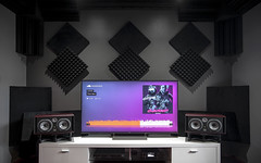 Home Cinema Setup (Ahil Mohan) Tags: focal twin 6 be studio monitors sony kd65x9300e home theater listening room acoustic sound absorption panels oppo ha1 dac bass traps isoacoustic