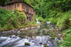 Run of the Mill (writing with light 2422 (Not Pro)) Tags: cedarcreekgristmill washingtonstate nationalregisterofhistoricplaces creek longexposure richborder sonya7