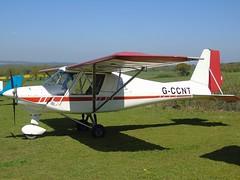 G-CCNT Ikarus C42 FB80 (c/n  0311-6585) Popham (andrewt242) Tags: gccnt ikarus c42 fb80 cn 03116585 popham