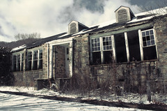The old school at Glen Ayre (jeffersonellis) Tags: old building abandoned empty decay urbex winter cold snow sky clouds cloud overgrown frost freeze light rustic rot appalachia country weather