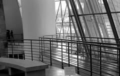 Passageway (Gabo Barreto) Tags: bilbao paisvasco basquecountry museum guggenheim indoors windows film 35mm canon fd a1 selfdeveloped scannedfromfilm analoguephotography monochrome blackandwhite slr