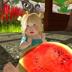 Melon season! (bearritto) Tags: daisy crowley daisycrowley poses pose family toddleedoo alice td bebe baby bad seed body bb second life sl photo photography picture rp roleplay princess toddler child kid children tot flickr daughter snapshot snap shot kawaii cute adore adorable cutie spam art drawing crayon marker draw color colour colouring coloring play playing illustration home flower dream daydream be anything dress up dressup melon watermelon season summer
