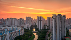 Boon Keng Stream (Scintt) Tags: singapore state structure building architecture skyline city cityscape hdb housing estate sun sky clouds dramatic surreal epic light glow travel urban exploration skyscrapers construction wideangle scintillation scintt jonchiangphotography apartments flats homes expressway transportation vehicles road street highway freeway landscape clear real residential residences public panorama stitched vantagepoint boonkeng sunset dusk twilight evening canal river stream water pano whampoa