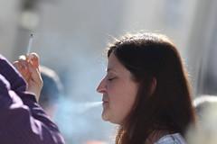 Exhale (if you insist) Tags: smoking smoker addict nicotine candid cigarette exhale eurosmoke